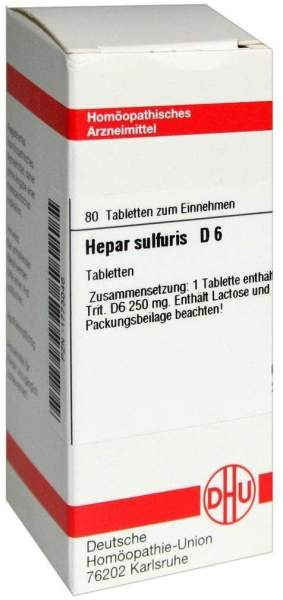 Hepar Sulfuris D6 80 Tabletten