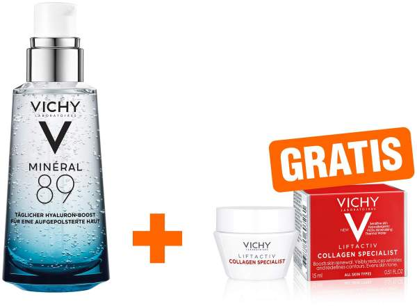 Vichy Mineral 89 Elixier 50 ml + gratis Liftactiv Collagen Special mini 15 ml
