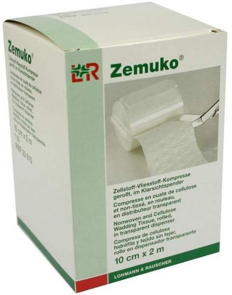 Zemuko Vliesstoff-Kompresse gerollt 10 cm x 2 m 1 Stück