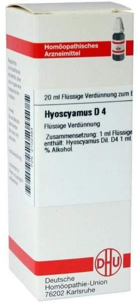 Dhu Hyoscyamus D4 Dilution D4