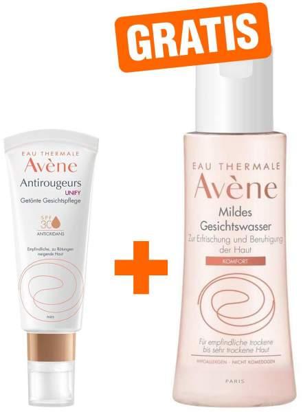 Avene Antirougeurs UNIFY getönte Gesichtspflege SPF30 40ml Creme + gratis mildes Gesichtswasser 100 ml