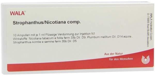 Strophanthus Nicotian Comp. Ampullen 10 X 1 ml