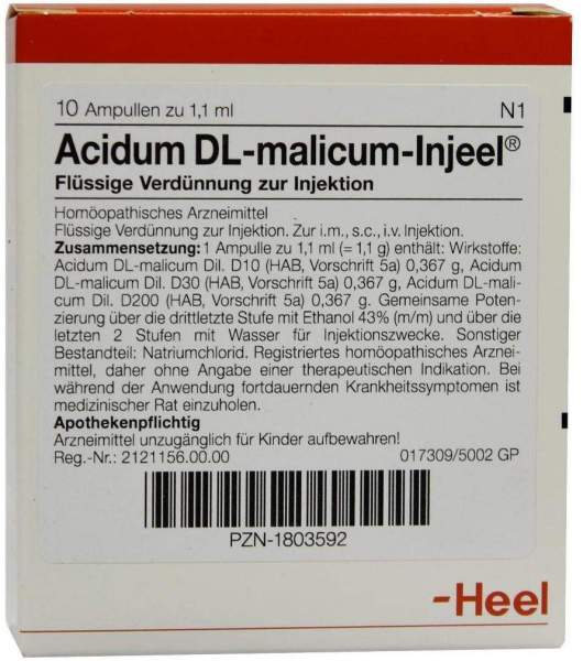 Acidum Dl Malicum Injeele 1,1 ml