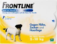 Vorschau: Frontline Spot On Hund S 2-10kg 6 Lösungen