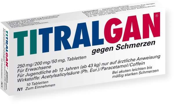 Titralgan Gegen Schmerzen 10 Tabletten