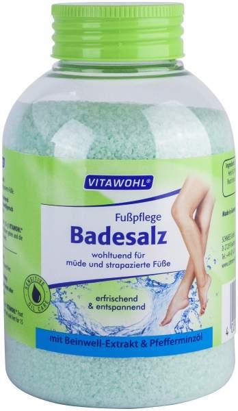 Fußpflege Badesalz Beinwell + Pfefferminzöl Vitawohl 600g