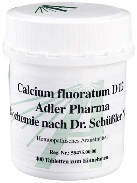 Biochemie Adler 1 Calcium Fluor. D12 400 Tabletten