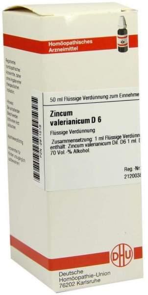 Zincum Valerianicum D6 Dhu 50 ml Dilution