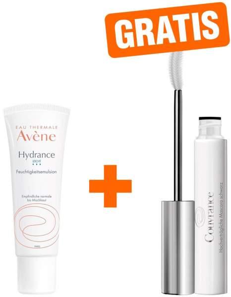 Avene Hydrance LEICHT Feuchtigkeitsemulsion 40 ml + gratis Couvrance Mascara schwarz 3 ml