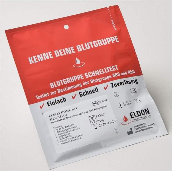 Blutgruppe Schnelltest Eldon Home Kit Hka 2511-1 1 Test