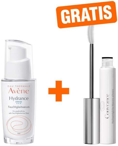 Avene Hydrance Intense Feuchtigkeitsserum 30 ml + gratis Couvrance Mascara schwarz 3 ml