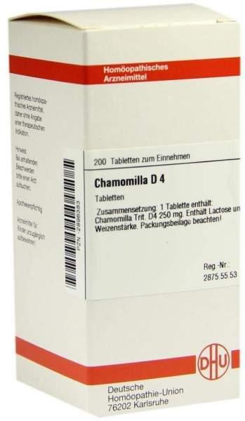 Chamomilla D 4 200 Tabletten