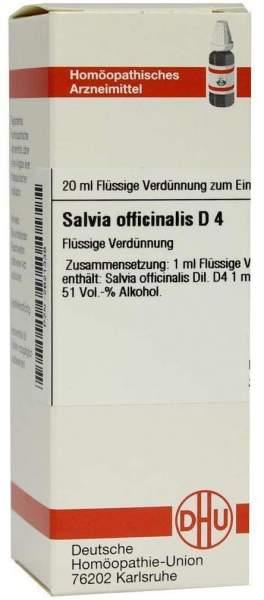 Salvia Officinalis D4 20 ml Dilution