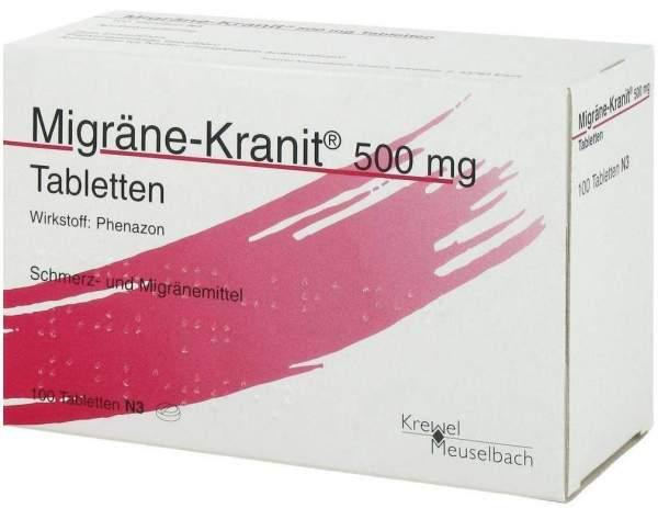 Migräne Kranit 500 mg 100 Tabletten