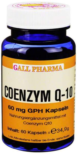 Coenzym Q10 60 mg Gph 60 Kapseln