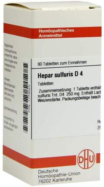Hepar Sulfuris D4 80 Tabletten