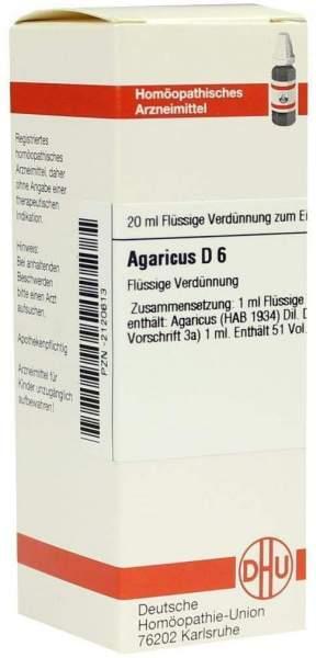 Agaricus D 6 20 ml Dilution