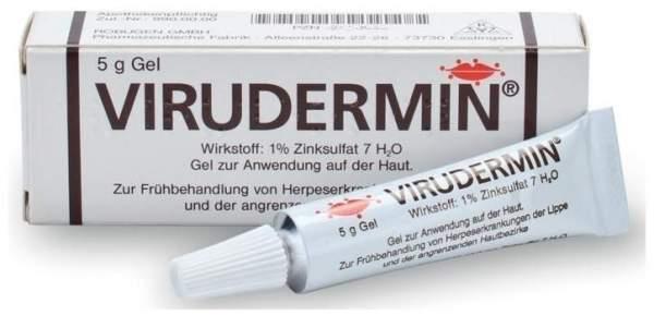 Virudermin 5 g Gel 1% Zinksulfat Frühbehandlung Herpesbehandlung