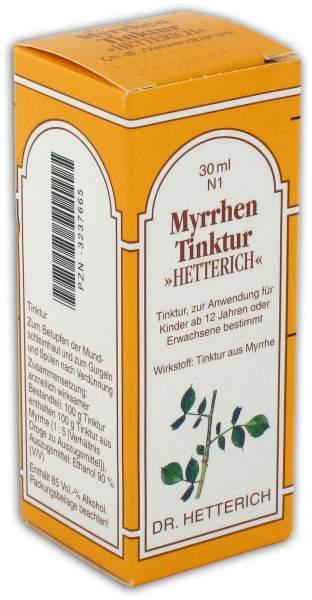 Myrrhen Tinktur Hetterich 30ml