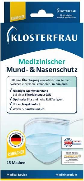 Klosterfrau Medizinische Mund-Nasen-Schutzmaske 15 Stück