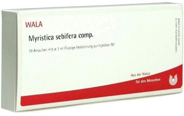 Myristica Sebifera Comp. Ampullen 10 X 1 ml