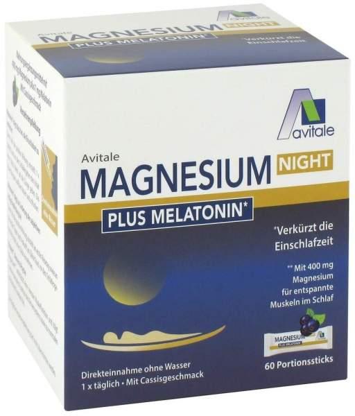 Magnesium Night plus Melatonin 60 Portionsbeutel