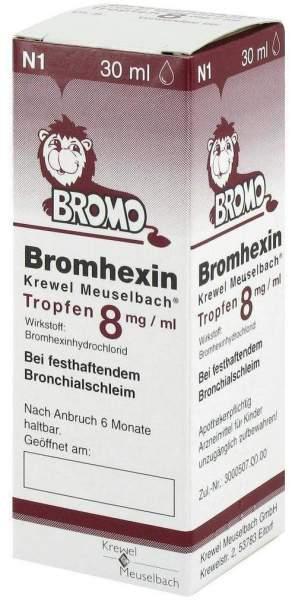 Bromhexin Krewel Meuselbach Tropfen 8 mg Pro ml 30 ml