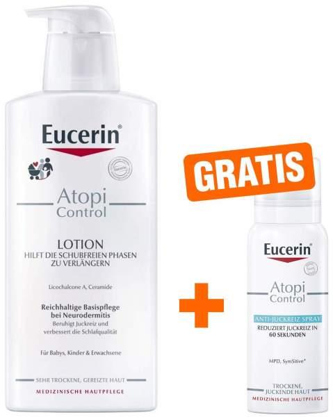 Eucerin AtopiControl Lotion 400 ml + gratis AtopiControl Anti Juckreiz Spray 50 ml