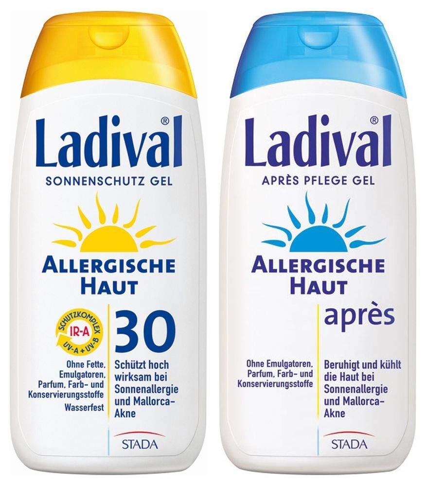 Sparset Sonnenschutz Ladival allergische Haut Gel LSF 30 200ml Ladival Allerg. Apres Gel 200ml