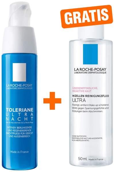 La Roche Posay Toleriane Ultra Nacht Gel 40 ml + gratis Reinigung Reactive Mizellen 50 ml