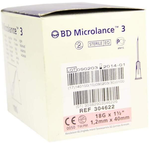 Bd Microlance Kanüle 18 G 1 1-2 Trans 18 X 40mm