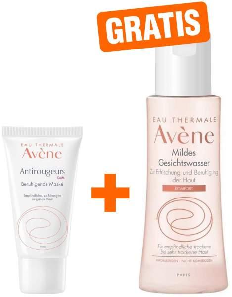 Avene Antirougeurs Calm beruhigende Maske 50 ml + gratis Avene Mildes Gesichtswasser 100 ml