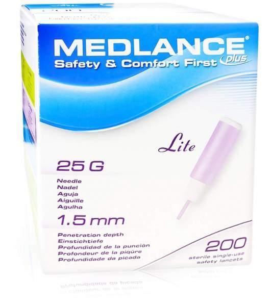 Medlance Plus Lite 200 Sicherheitslanzetten 25 G