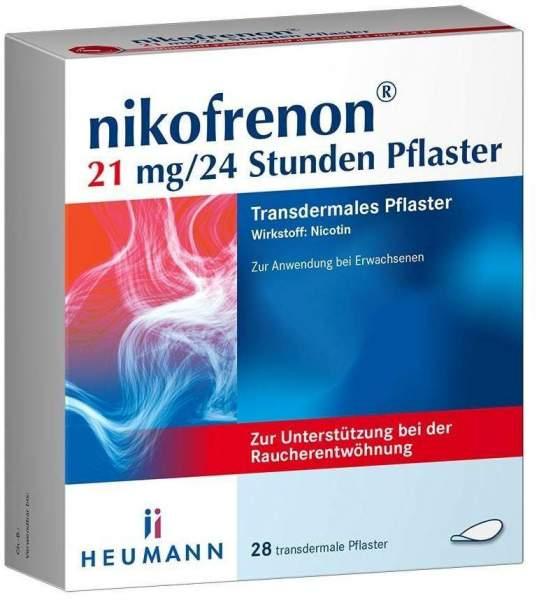 Nikofrenon 21 mg in 24 Stunden transdermale Pflaster 28 Stück