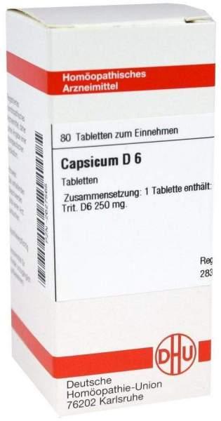 Capsicum D6 80 Tabletten