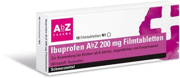 Ibuprofen Abz 200mg 10 Filmtabletten
