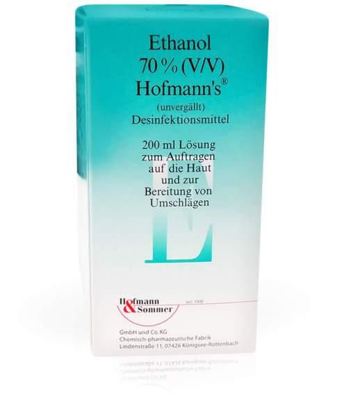 Ethanol 70% Hofmanns 200 ml Lösung