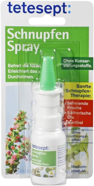 Tetesept Schnupfen Spray 20 ml Nasenspray