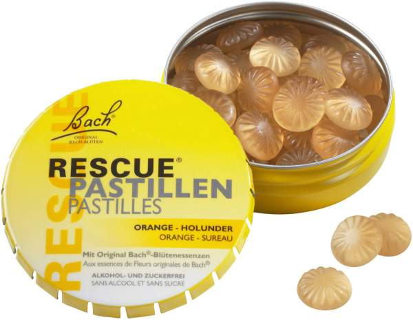 Bach Original Rescue Pastillen Orange Holunder 50 g Pastillen
