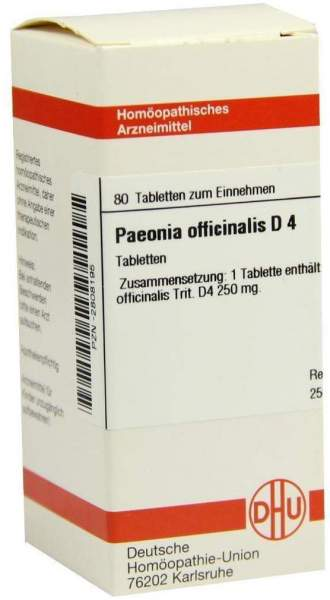 Dhu Paeonia Officinalis D4 Tabletten