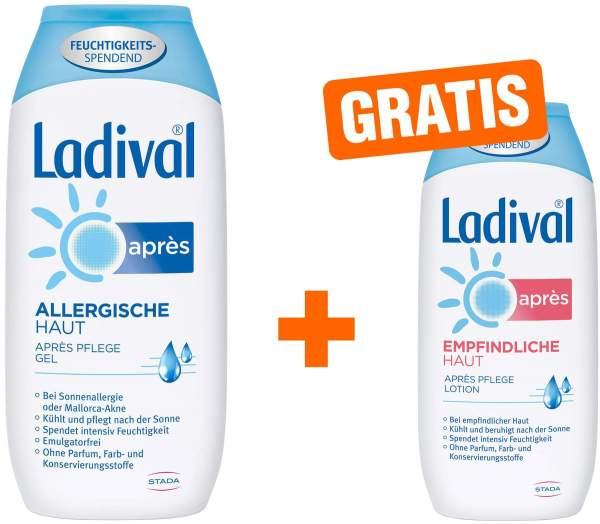 Ladival Allergische Haut Après Gel 200 ml Gel + gratis Empfindliche Haut 200 ml Après Lotion
