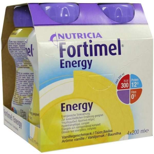 Fortimel Energy Vanillegeschmack 4x200 ml Flüssigkeit
