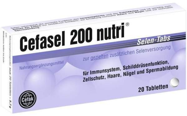 Cefasel 200 Nutri Selen Tabs 20 Tabletten