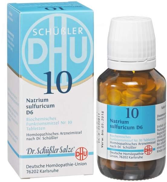 Biochemie DHU 10 Natrium sulfuricum D6 80 Tabletten