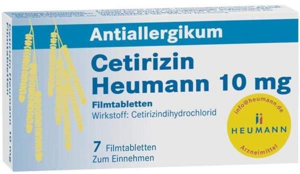 Cetirizin Heumann 10 mg 7 Filmtabletten