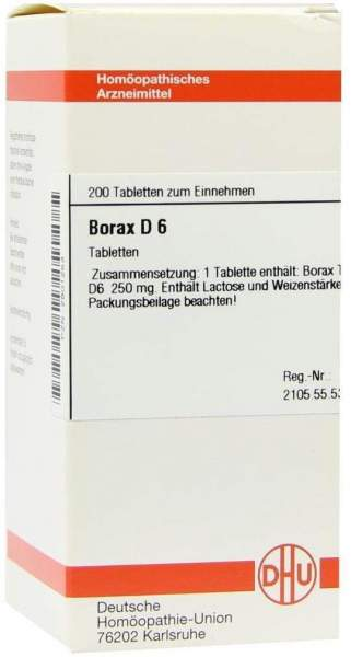 Borax D 6 200 Tabletten