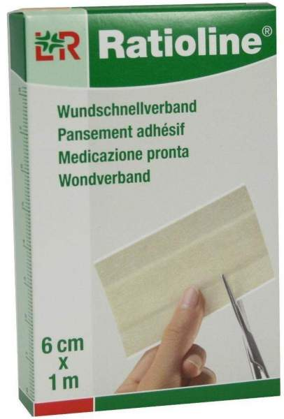Ratioline Sensitive Wundschnellverband 6 cm x 1 m 1 Packung