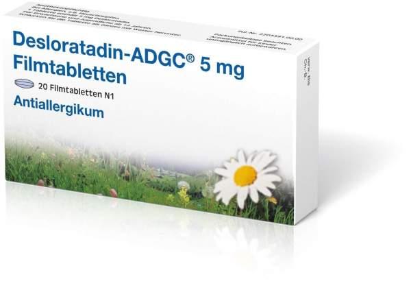 Desloratadin ADGC 5 mg 20 Filmtabletten