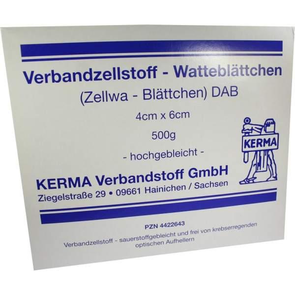 Verbandzellstoff Watteblättch.4x6cm Hhgebl