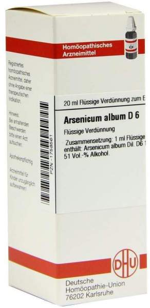Arsenicum Album D6 Dilution 20 ml Dilution